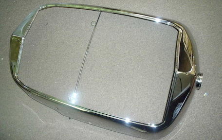 Mercedes grill surround after chrome plating